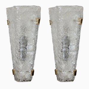 Applique in vetro a bolle di Egon Hillebrand per Hillebrand Lighting, anni '60, set di 2