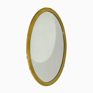Mid-Century Oval Golden Mirror