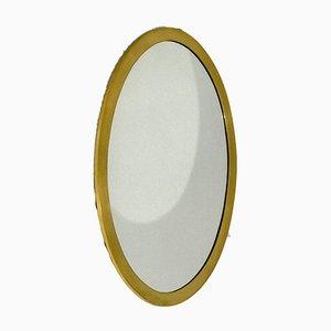 Ovaler Mid-Century Spiegel mit vergoldetem Rahmen
