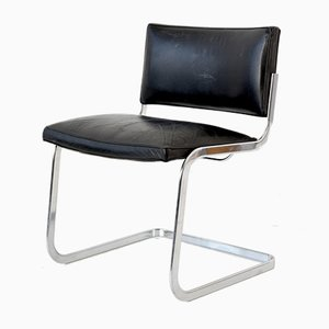 Cantilever Leather Chair by Robert and Trix Haussmann for de Sede, 1960s