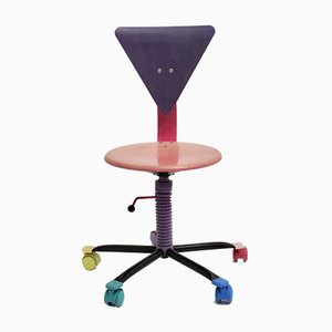 Colorful Adjustable Desk Chair, 1980s
