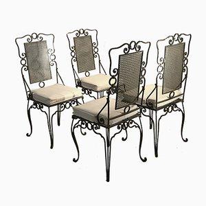 Sedie da giardino di Mathieu Matégot, anni '50, set di 4