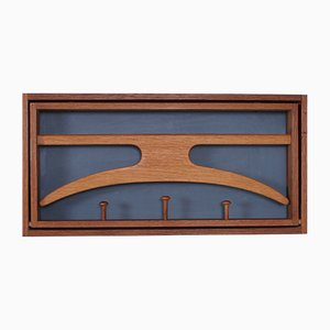 Vintage Teak Wall Valet by Adam Hoff & Poul Østergaard for Virum Møbelsnedkeri