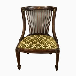Antique English Edwardian Inlaid Side Chair
