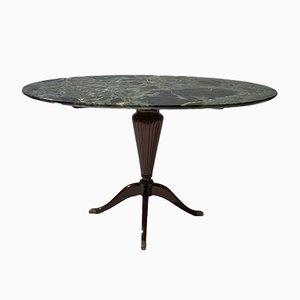 Kleiner ovaler Tisch mit Marmorplatte von Paolo Buffa, 1940er