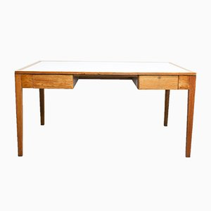 English War Department Oak Desk, 1950s