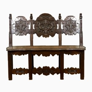 Antique French Carved Bench
