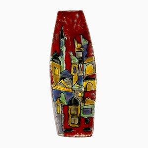 Glasierter italienischer Tafelaufsatz aus Keramik von Elio Schiavon für Ceramiche Schiavon, 1950er