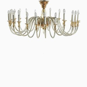 Large Murano Amber-Glass Chandelier, 1950s