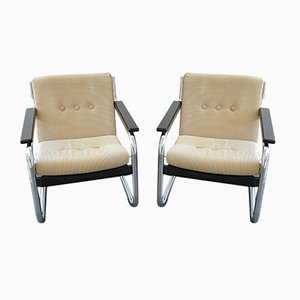 Scandinavian Cantilever Armchairs, 1980s, Set of 2