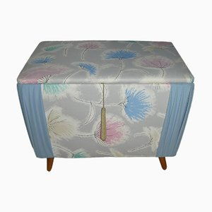 Commode Mid-Century en Lin Pastel, 1950s