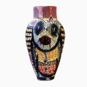 Vaso Tikki antropoide in porcellana di Gur Inbar