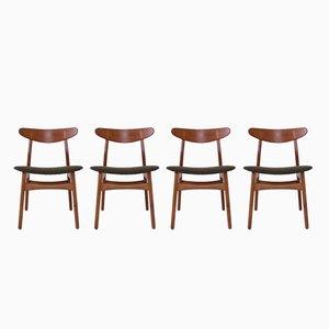 CH30 Esszimmerstühle von Hans J. Wegner für Carl Hansen & Søn, 4er Set