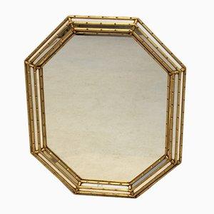 Achteckiger italienischer Spiegel mit vergoldetem Holzrahmen von Labarge, 1970er