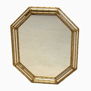 Italian Gilt Wood Octagonal Mirror from Labarge, 1970s