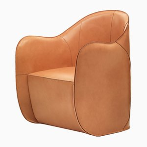 Exo Armchair with Pouf by Alberto Colzani for Epònimo