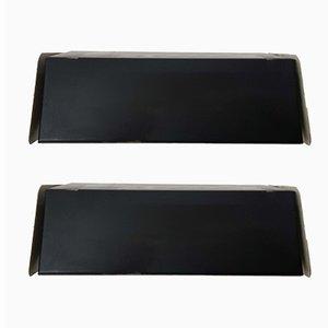 Applique in metallo nero di J.J.M. Hoogervorst per Anvia, anni '60, set di 2
