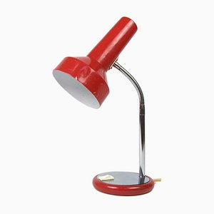 Vintage Red Steel Desk Lamp, 1970s