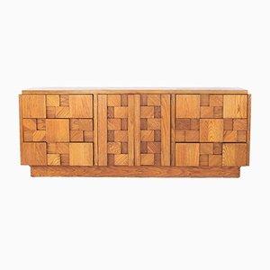 Brutalist 9-Drawer Dresser from Lane Furniture, 1970s