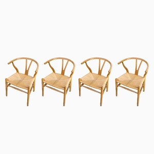 Mid-Century 'CH24' Wishbone Chairs by Hans Wegner for Carl Hansen & Søn, 1960s, Set of 4