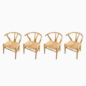 Mid-Century 'CH24' Wishbone Chairs by Hans Wegner for Carl Hansen & Søn, 1960s, Set of 4