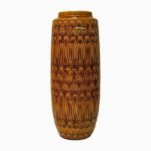 Vaso Inka 264-52 in ceramica gialla di Scheurich, anni '60
