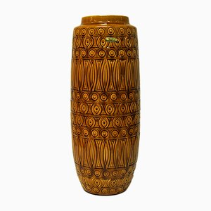 Yellow Ceramic Model Number 264-52 Inka Vase from Scheurich, 1960s