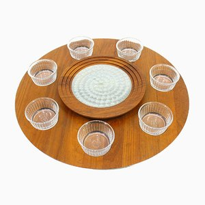 Danish Rotating Service Tray from Luthje, 1970s