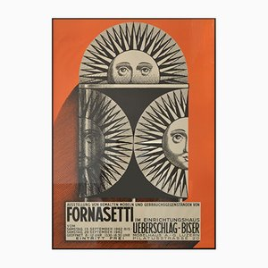 Affiche d'Exposition Fornasetti, 1962