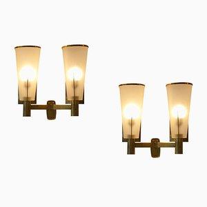 Lámparas de pared vintage de Stilnovo. Juego de 2