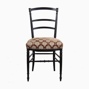 Antike französische Napoleon III Esszimmerstühle, 2er Set