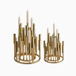 Brass Borgia Chandeliers by Carla Baz, 2018, Set of 2