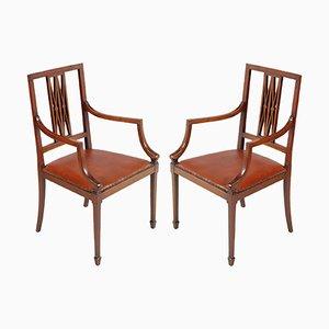 Jugendstil Stühle aus Nussholz von Jakob & Joseph Kohn
