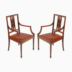 Two Armchairs Labelled Jakob & Joseph Kohn Wien, Art Nouveau, walnut