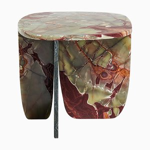Tavolino da caffè in onice rossa e verde di Oskar Peet & Sophie Mensen