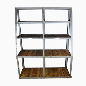 Large Vintage Industrial Shelf, 1950s