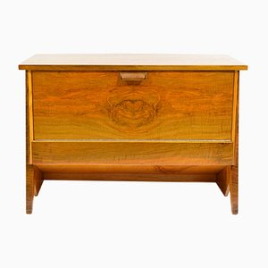Low Oak & Walnut Veneered Cabinet, 1950s