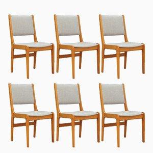 Dänische Vintage Stühle aus Teak, 6er Set