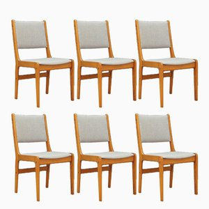 Vintage Danish Teak Chairs, Set of 6
