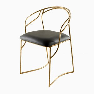 Hand-Sculpted Brass Chair by Misaya