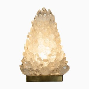 Pyramid Rock Crystal Table Lamp by Demian Quincke, 2019
