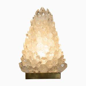 Pyramid Tischlampe aus Bergkristall von Demian Quincke, 2019