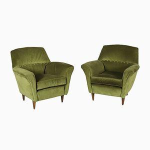 Gefederte italienische Vintage Sessel, 1960er, 2er Set