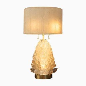 Lampe de Bureau en Cristal de Roche Naturelle par Demian Quincke, 2019
