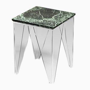 Tavolino da caffè Vein verde e trasparente di Madea Milano