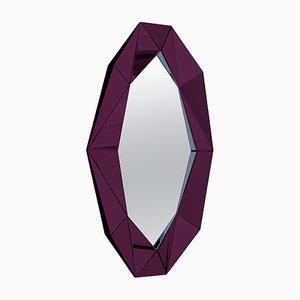 Großer burgunderroter Diamond Spiegel von Reflections Copenhagen