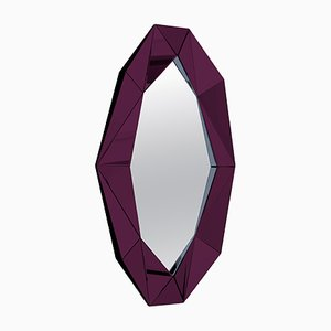 Large Burgundy Diamond Mirror by Reflections Copenhagen