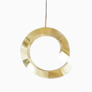 Brass Spiral Pendant Lamp by Rooms