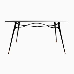 Handgefertigter Schreibtisch aus Messing von Misaya, 2019