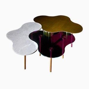 Tables Basses en Laiton par Sebastian Scherer, Set de 3